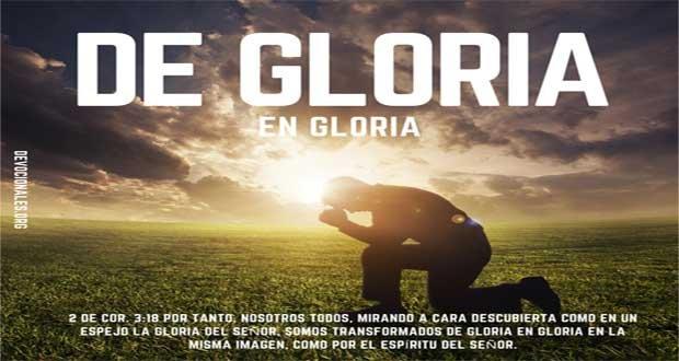 De Gloria En Gloria