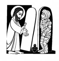 Lazaro y Jesus Resurreccion