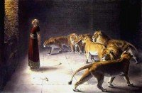 El profeta Daniel con los leones