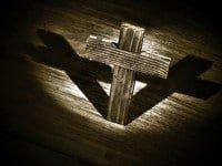 La cruz de Cristo Madero