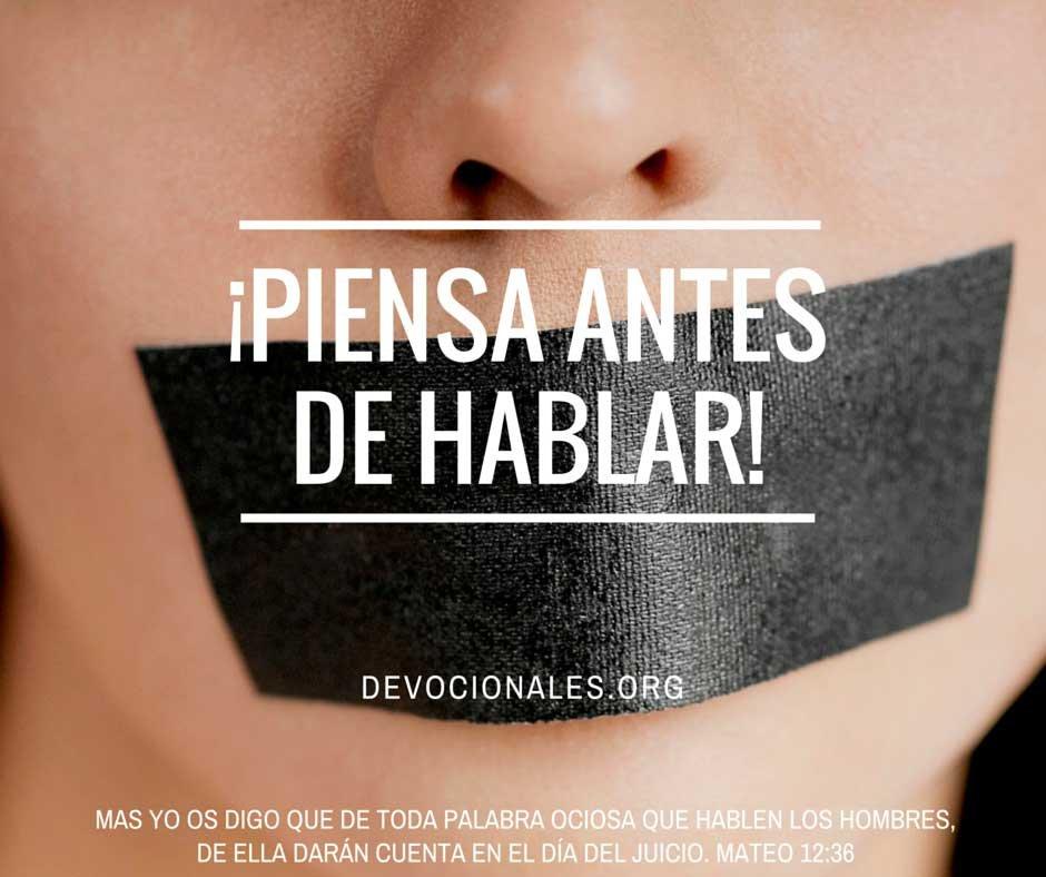 ¡Piensa Antes De Hablar!