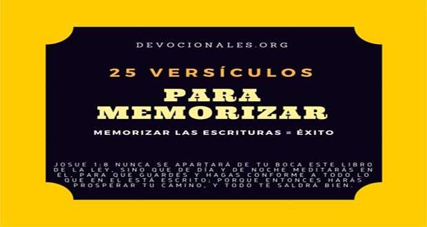 25 Excelentes Versículos De La Biblia Para Memorizar