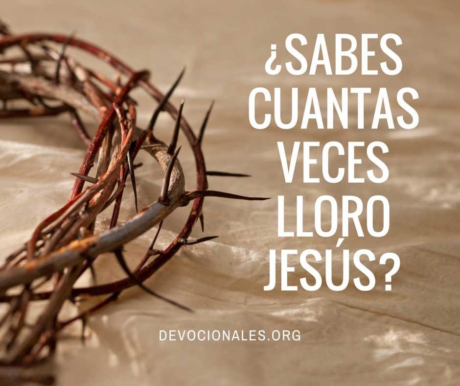 ¿Sabes Cuantas Veces Lloro Jesús?