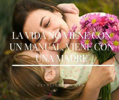 Día de La Madre: La Vida no viene con Un Manual, viene con una madre