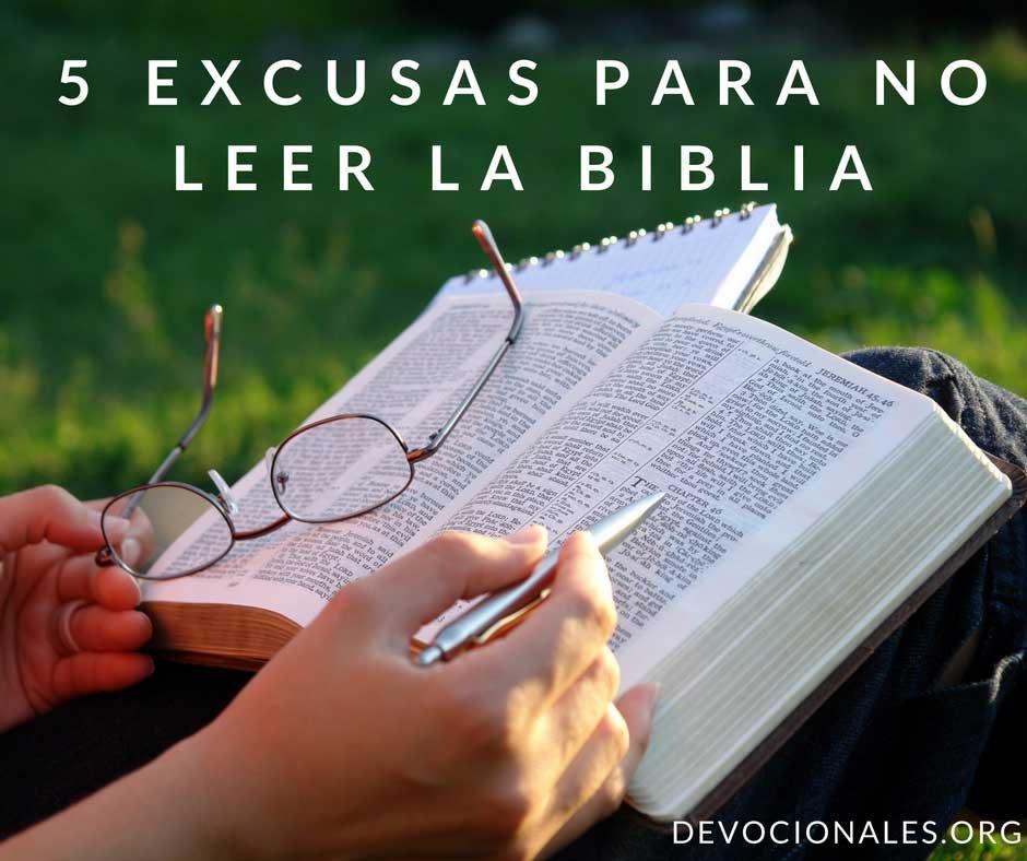 Excusas Para No Leer La Palabra de Dios
