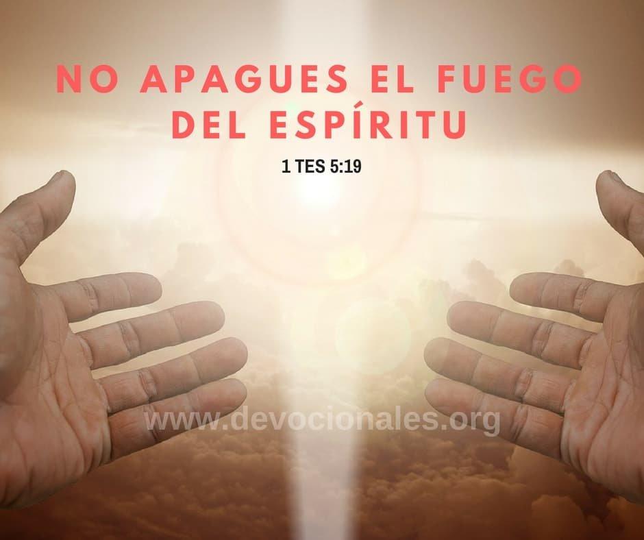 1 Tesalonicenses 5:19